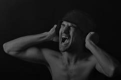Soldado que grita - 3 dramáticos Fotografia de Stock Royalty Free