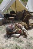 Reclinación del soldado Foto de archivo