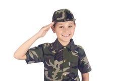 Soldado que saluda imagen de archivo libre de regalías