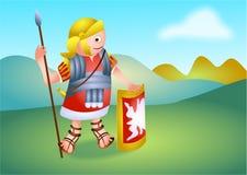 Soldado romano ilustração do vetor