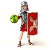 Soldado romano stock de ilustración