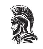 Soldado romano del centurión Ejemplo del vector del bosquejo Imagen de archivo libre de regalías