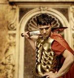 Soldado romano del legionario Imagen de archivo libre de regalías