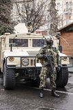 Soldado rumano de las operaciones especiales imagenes de archivo