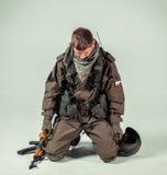 Soldado ruso de las fuerzas especiales Fotos de archivo libres de regalías