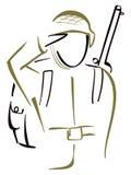 Soldado saludado ilustración del vector