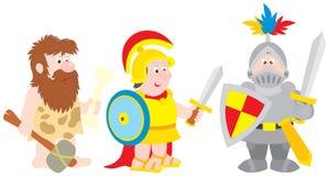 Soldado selvagem, antigo, cavaleiro Imagens de Stock