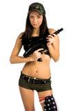 Soldado 'sexy' Imagens de Stock Royalty Free