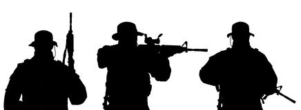 Soldado Silhouette ilustração royalty free