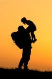 Soldado Silhouette Fotos de Stock Royalty Free