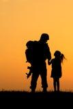 Soldado Silhouette Imagens de Stock