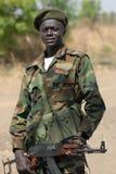 Soldado sudanés Imágenes de archivo libres de regalías