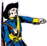 Soldado sueco del siglo XVIII Marching stock de ilustración