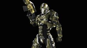 Soldado super avançado Imagem de Stock Royalty Free