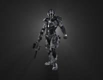 Soldado super futurista Fotografia de Stock Royalty Free