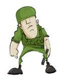 Soldado terrible de la historieta Fotos de archivo libres de regalías
