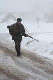 Soldado ucraniano Imagens de Stock