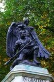 Soldado y ángel - catedral de Worcester imágenes de archivo libres de regalías