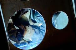 Soldador de acero industrial Imagen de archivo libre de regalías