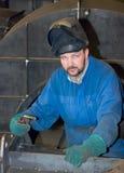 Soldador en el trabajo Imagen de archivo