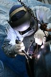 Soldador no trabalho 6 Foto de Stock Royalty Free