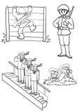 Soldados ilustração stock