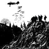 Soldados ilustração royalty free