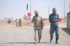 Soldados afganos en la frontera Fotos de archivo libres de regalías