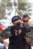 Soldados aficionados de los guerreros de la competencia de deportes Imagen de archivo