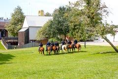 Soldados americanos da cavalaria Fotografia de Stock