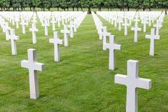 Soldados americanos do cemitério WW1 que morreram na batalha de Verdun Fotografia de Stock