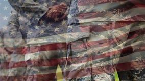 Soldados americanos en resto de desfile metrajes