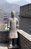 Soldados antigos famosos no Grande Muralha (China) Foto de Stock Royalty Free