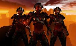 Soldados avanzados del cyborg Foto de archivo libre de regalías