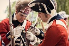 Soldados británicos del ejército Fotografía de archivo libre de regalías