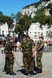 Soldados britânicos, Gibraltar Imagens de Stock Royalty Free