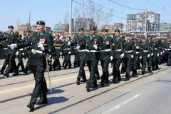 Soldados canadenses na batalha da parada de York Fotografia de Stock Royalty Free