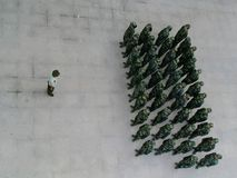 Soldados chineses fotografia de stock