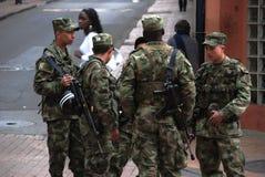 Soldados colombianos foto de archivo
