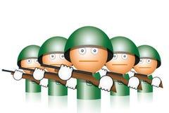 Soldados com injetores Fotografia de Stock Royalty Free