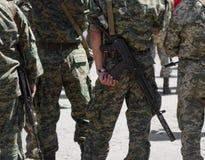 Soldados com máquina-armas Foto de Stock