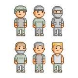 Soldados da coleção de arte do pixel Imagens de Stock Royalty Free