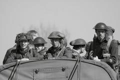 Soldados da segunda guerra mundial Fotografia de Stock Royalty Free
