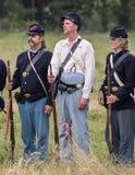Soldados da união da guerra civil Imagem de Stock Royalty Free