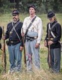 Soldados da união da guerra civil Fotos de Stock