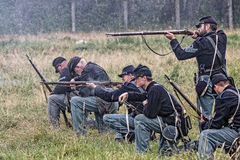 Soldados da união no combate Imagens de Stock