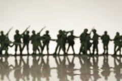 Soldados de brinquedo Fotografia de Stock