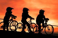 Soldados de caballería de la bici Imagen de archivo