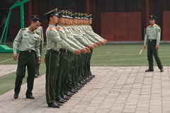 Soldados de China Fotos de archivo libres de regalías