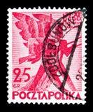 Soldados de infantaria estilizados, 100th aniversário do novembro polonês U Fotografia de Stock Royalty Free